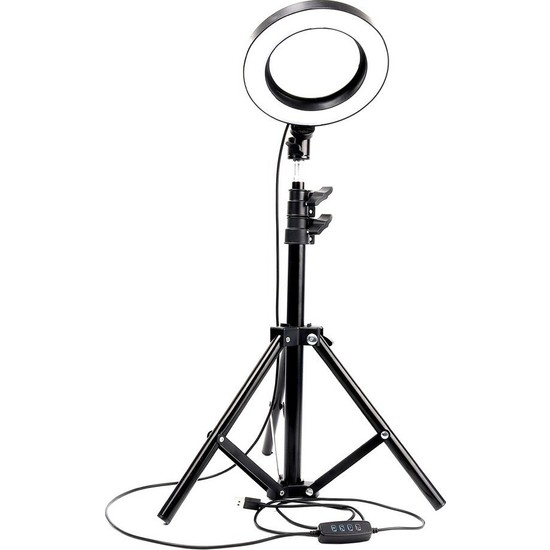 "Blackmarket 10"" Kuaför Makyaj Youtube Çekimleri Ring Light Sürekli 10 Inç Işık 2m Stand"