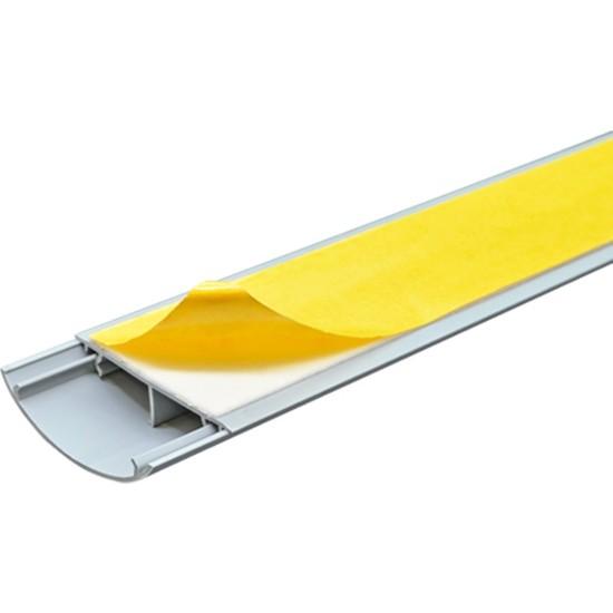 A Plus Elektrik 50x12 mm Balık Sırtı Güçlü Yapışkan Bantlı Beyaz 2x1m=2m Kablo Kanalı