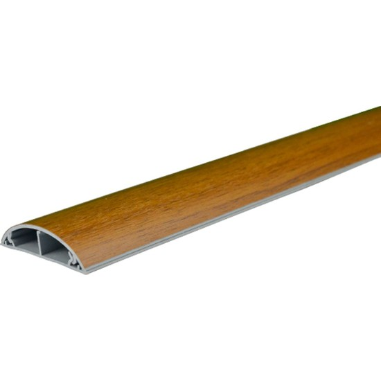 A Plus Elektrik 50x12 mm Balık Sırtı Lamine Kaplamalı Ceviz 2x1m=2m Bantsız Kablo Kanalı