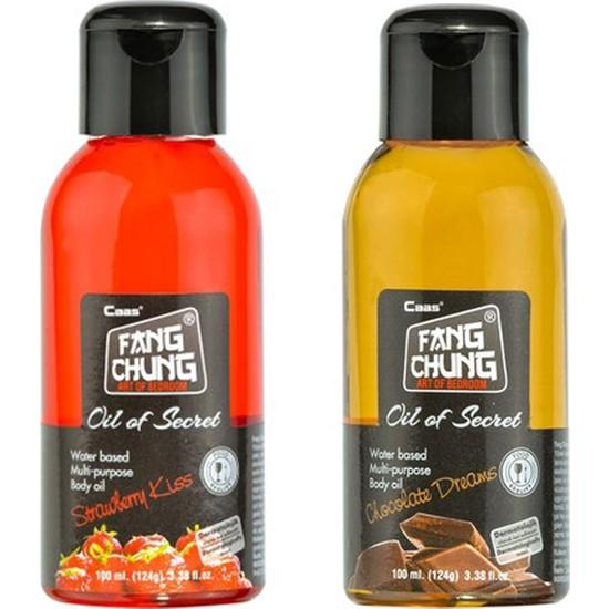 Fang Chung Çikolata + Çilek Aromalı Masaj Yağı - 100ml