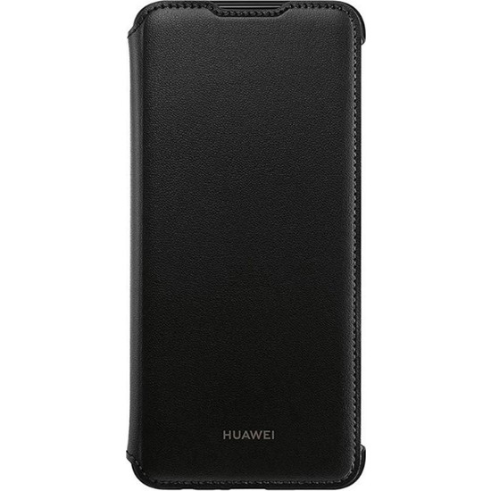 Huawei Potter P Smart 19 Flip Cover Kapaklı Kılıf - Siyah
