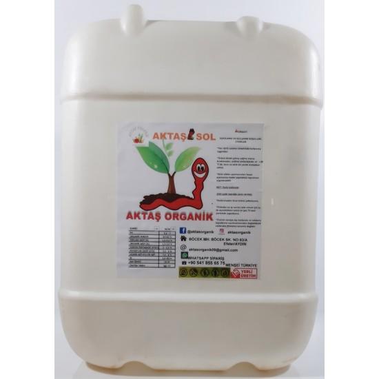 Aktaşsol Organik Konsantre Sıvı Solucan Gübresi 20 lt