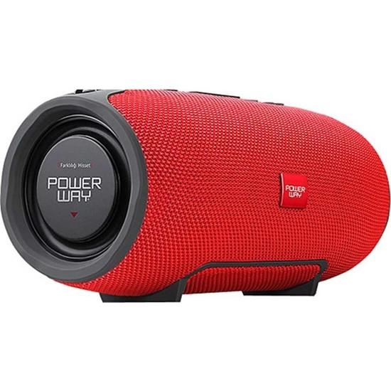 Powerway WRX08 Bluetooth Kablosuz Hoparlör Extra Bass Suya Dayanıklı
