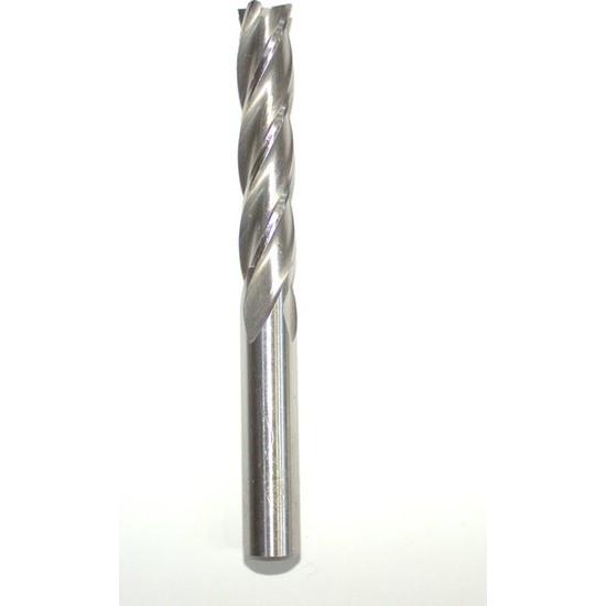 Gfb Uzun Hss Dört Ağızlı Parmak Freze 4 mm Şaft 6 mm