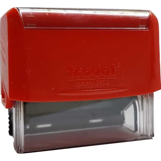 Trodat 3912 Kişiye Özel Firma Ve Şirket Kaşeleri Baskı Rengi Kırmızı + İsim Yazılı Kalem