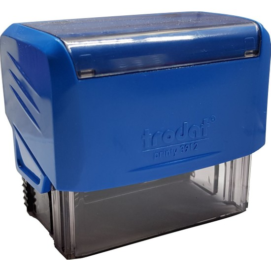 Trodat 3912 Kişiye Özel Firma Ve Şirket Kaşeleri Baskı Rengi Mavi + İsim Yazılı Kalem