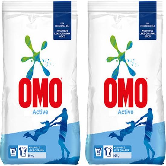 Omo Active Toz Deterjan 10kg (2adet)