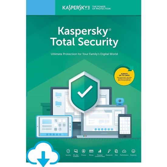 Kaspersky Total Security 1 Kullanıcı 1 Yıl Türkçe Anti Virüs Programı 2021 Sürüm