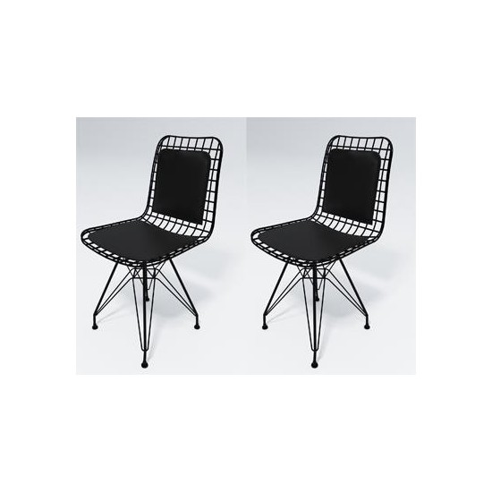 Knsz kafes tel sandalyesi 2 li mazlum syhsyh sırt minderli ofis cafe bahçe mutfak