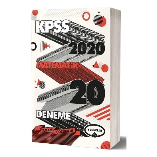 Yediiklim Yayınları 2020 KPSS Genel Yetenek Matematik Tamamı Çözümlü 20 Deneme