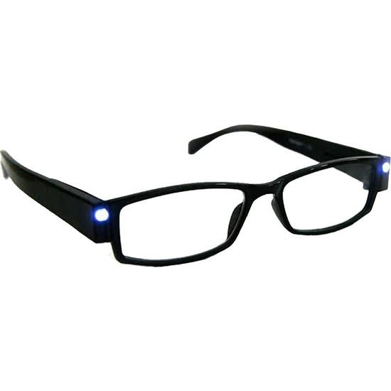 Hediye Elçisi LED Işıklı Camsız Kitap Okuma Çerçeveli Gözlük
