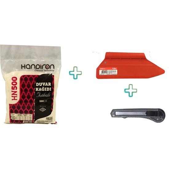 Handiron HN500 Duvar Kağıdı Tutkalı Yapıştırıcısı Toz Ilacı Yapıştırma Seti 3 Lü 500 gr