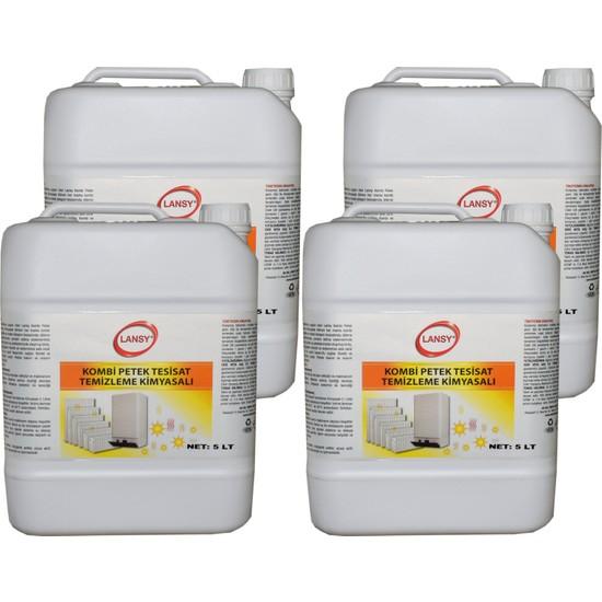 Lansy 5 lt 4'lü Kombi Petek Tesisat Temizleme Kimyasalı