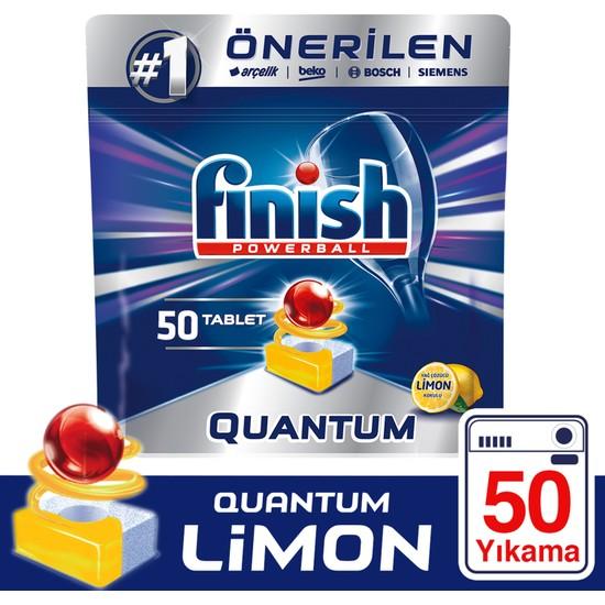 Finish Quantum 50 Tablet Bulaşık Makinesi Deterjanı Limon Ferahlığı