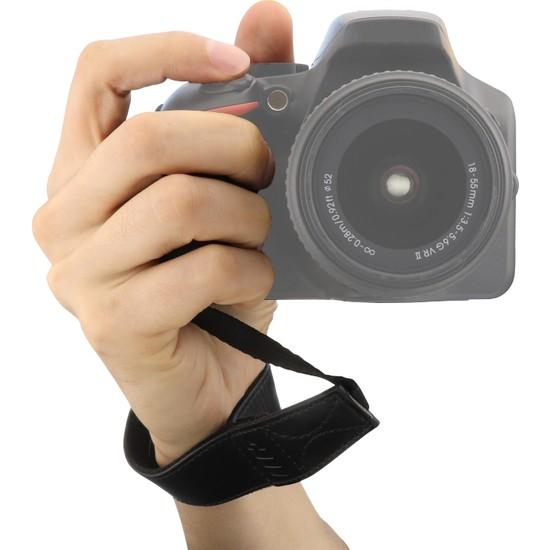 Megagear MG1410 Deri Bilek Kayışı Nikon Panasonic Leica Sony Fujifilm Olympus Dijital Fotoğraf Makineleri Için