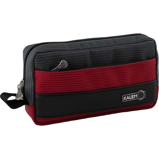 Arc Kalemlig Dash Maxi Double Kalem Çantası Kırmızı-Siyah