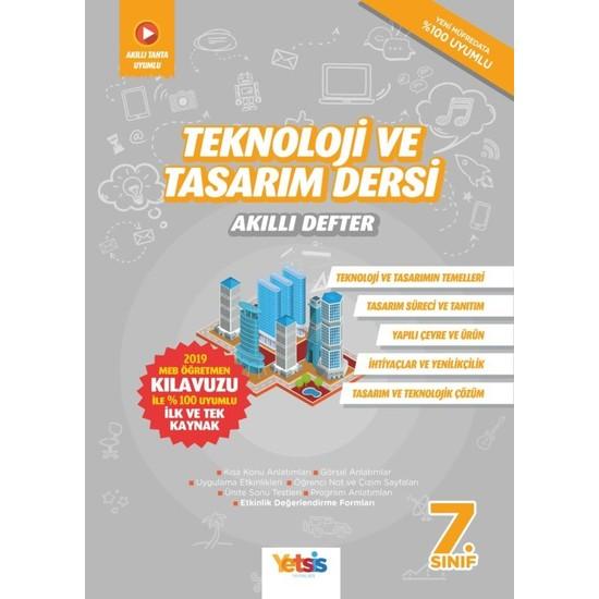 Yetsis Yayınları Teknoloji ve Tasarım Dersi 7. Sınıf Akıllı Defter