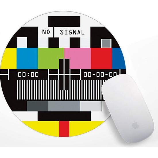 Retro Tv No Signal Tasarım Mouse Pad