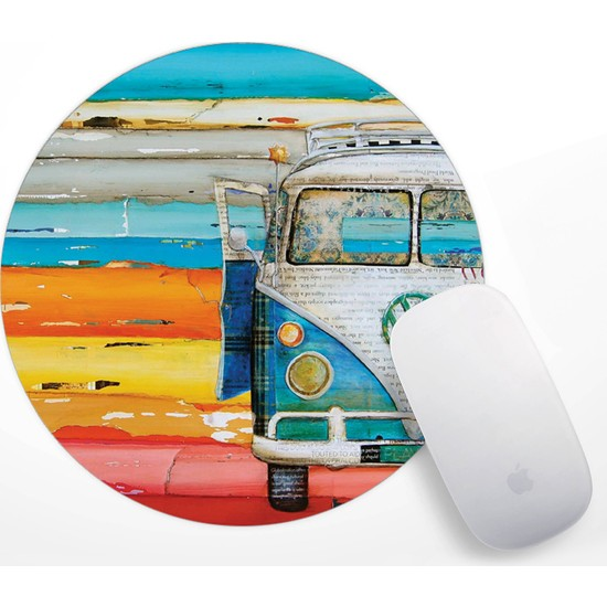 Retro Vosvos Tasarım Mouse Pad