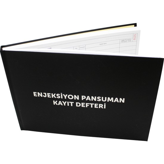 Naturist Enjeksiyon Pansuman Kayıt Def. 400 Sayfa-Sert Cilt Kapak