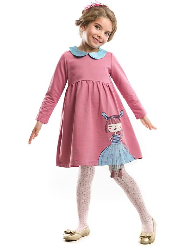 Mushi Kız Çocuk Tavşan Kız Gülkurusu Elbise