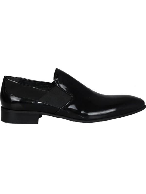 Kıng West 191-58 Siyah Rugan Erkek Ayakkabı