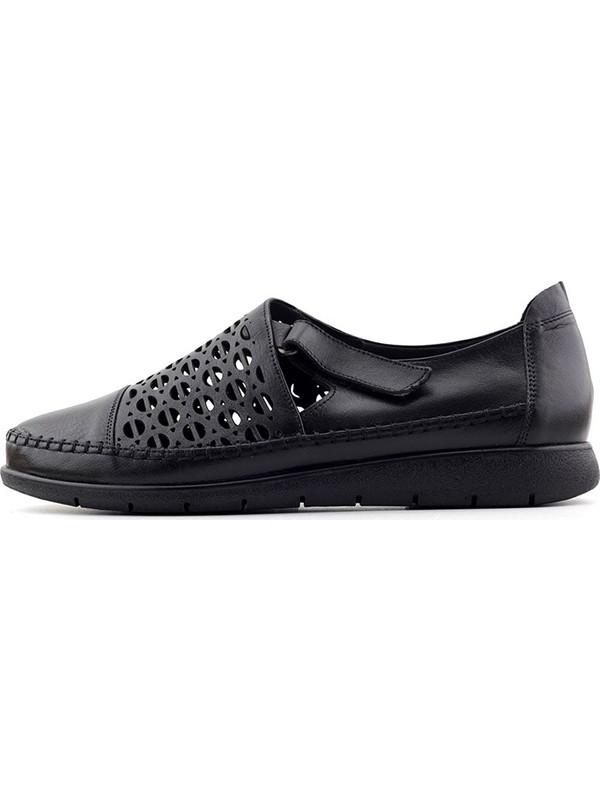 Evida 2599 Hakiki Deri Kadın Ayakkabı