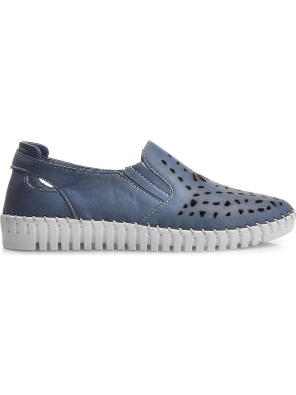 Vizon Ayakkabı Kadın Mavi Günlük Ayakkabı VZN-321Y