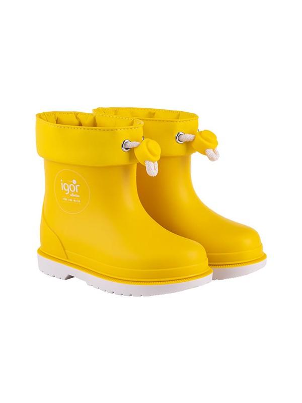 İgor W10225 Bimbi Nautico Erkek/Kız Çocuk Su Geçirmez Yağmur Kar Çizmesi Sarı