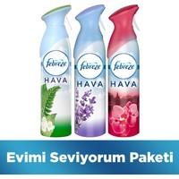 Febreze İle Evimi Seviyorum Paketi (Lavanta Konforu & Japon Kiraz Çiçekleri & Dağ Esintisi) 300 ml X 3