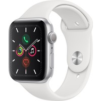 Apple Watch Seri 5 44mm GPS Silver Alüminyum Kasa ve Beyaz Spor Kordon MWVD2TU/A