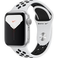 Apple Watch Nike Seri 5 40mm GPS Silver Alüminyum Kasa ve Pure Platinum/Siyah Nike Spor Kordon MX3R2TU/A