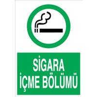 Canis Etiket Sigara Içme Bölümü Sticker - Folyo