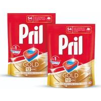 Pril Gold Bulaşık Makinesi Deterjanı 54 Tablet 2'li