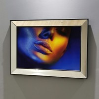 NeoStill Ayna Çerçeveli Temperli Cama Uv Baskı Tablo T103