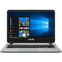 """Asus X407UB-BV234RH Intel Core i5 7200 8GB 1TB + 256GB SSD MX110 Freedos 14"""" Taşınabilir Bilgisayar"""
