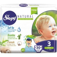 Sleepy Natural Bebek Bezi 3 Beden 30'lu x 4 Paket 120 Adet