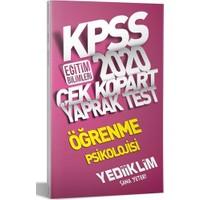 Yediiklim Yayınları 2020 KPSS Eğitim Bilimleri Öğrenme Psikolojisi Çek Kopart Yaprak Test