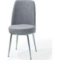 Laçes House Metal Ayaklı 1.sınıf Kumaş Masa Sandalyesi Ev27