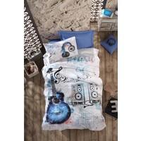 Cotton Box Tek Kişilik Ranforce Genç Nevresim Takımı - Guitar Mavi