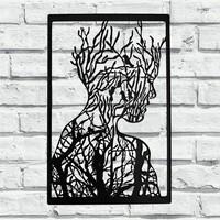 Foccaa Dizayn Doğa ve İnsan Metal Tablo