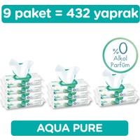 Prima Islak Havlu Aqua Pure 9'lu 432 Yaprak Fırsat Paketi
