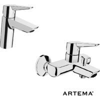 Artema Solid S Lavabo + Banyo Batarya Seti