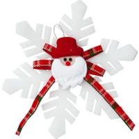 Kikajoy Yılbaşı Noel Baba Dekorlu Kar Tanesi