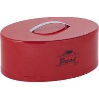 Nilşah Oval Ekmek Kutusu Kırmızı