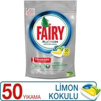 Fairy Platinum 50 Yıkama Bulaşık Makinesi Deterjanı Kapsülü Limon Kokulu