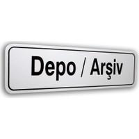 PassPano Pvc Foam Levha DEPO/ARŞİV 7 x 25 cm