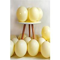 Kidspartim 10 lu Sari Makaron 12 inç Lateks Balon
