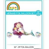 Kidspartim Deniz Kizi 3 lü Folyo Balon