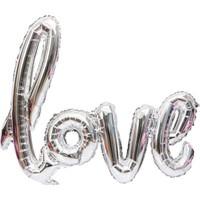 Kidspartim Love Folyo Balon 20 inç Gümüş
